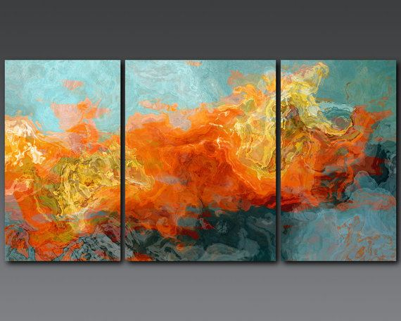 """#DecorbyMe @ForRent.com  Abstract art can be amazingly beautiful and even eerie. Having a mixture of """"true"""" art and poster prints would show my personality in an instant"""