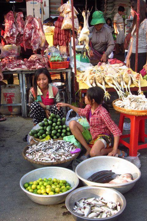 A market in Phnom Penh Cambodia