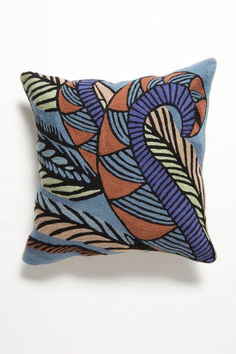 Lyrebird Square Cushion - Nancybird