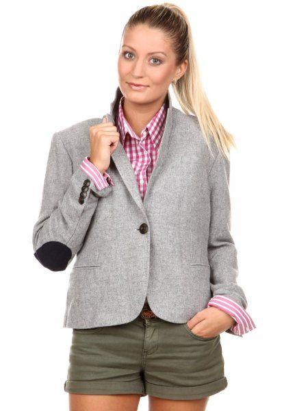 Elegantné dámske sako značky Gant z kolekcie 2011. Veľmi pohodlné sako kratšieho strihu s dlhým rukávom a zapínaním na gombík.