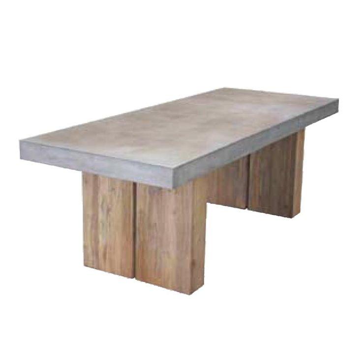Fantastisk flott spisebord i fiber cement og teak. Lengde 220 cm, bredde 90 cm og høyde 76 cm. For mer info og bestilling: www.krogh-design.no