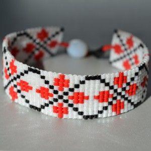 folkloric pattern bracelet