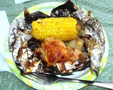 Dinner at the campsite chicken (or grill at home) – Camping Love Trip – #Campi ….   – Foil Pack Dinner Recipe
