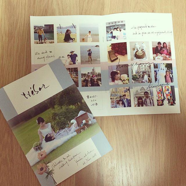 * プロフィールブック♡ @atelier_confeito オリジナル♡ みんなが待ってるあいだに楽しめるかなーと思って* 私たちの世界観も知ってほしいなぁ〜という思いで作ってもらいました♡ 全8ページ&席次表入り #プロフィールブック#席次表#ペーパーアイテム#卒花#atelierconfeito #みきちゃんありがとうシリーズ #えんどーさん家の結婚式