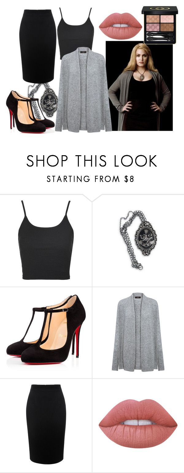 """""""† twilight saga new moon: rosalie hale inspired †"""" by princessieromustdie on Polyvore featuring Cullen, Topshop, Christian Louboutin, Theory, Alexander McQueen, Lime Crime, Gucci, twilight, rosaliehale and newmoon"""