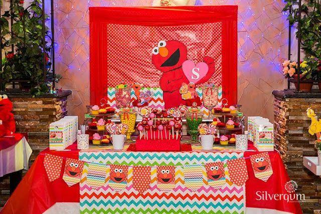 Neşeli Süs Evim - Ücretsiz Doğum Günü Süsleri: Susam Sokağı ''Elmo'' Temalı Parti Fikirleri