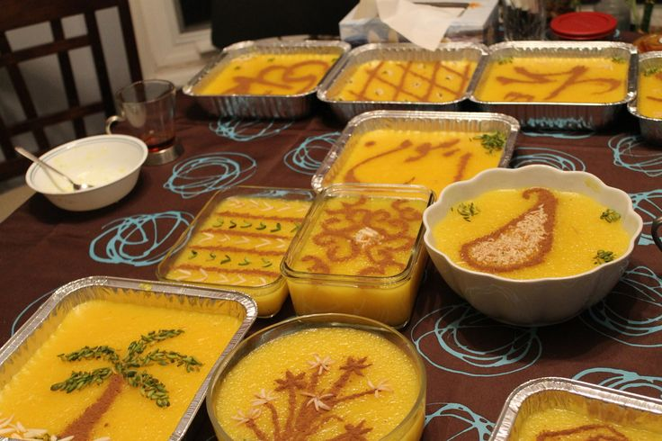 This sweet- Saffron desert is one of the most delicious Iranian after main food in IRAN. It made by rice, Oil, Sugar, Saffron and red rose taste.