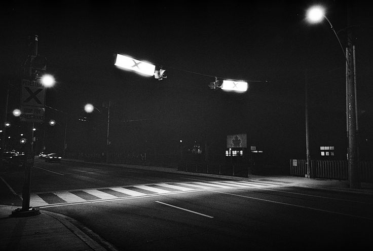 https://flic.kr/p/tDk2Zz | Untitled by scott williamson #film #photography #35mm #blackandwhite #crosswalk #night photobook: http://bit.ly/wvrlght4