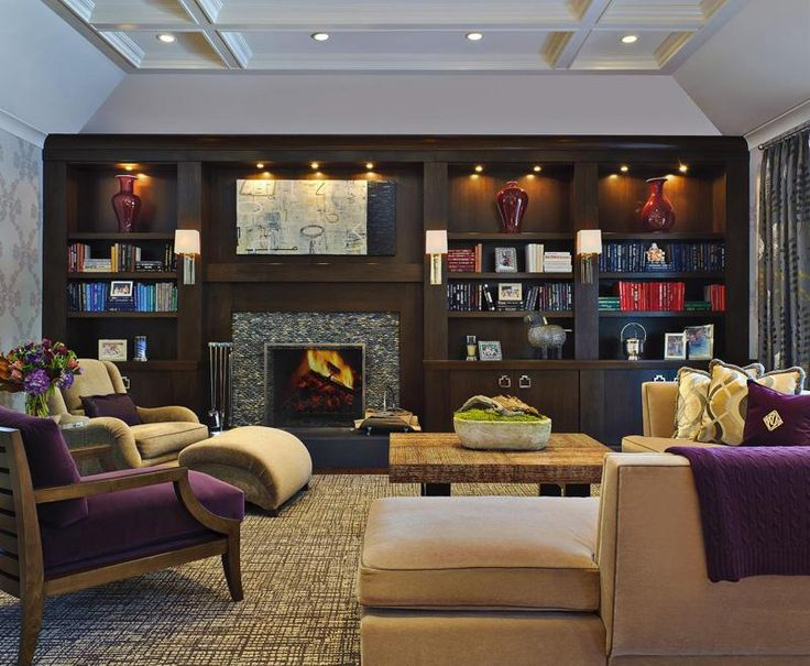Unique Classic Contemporary Living u Family Room by Evelyn Benatar on HomePortfolio man cave