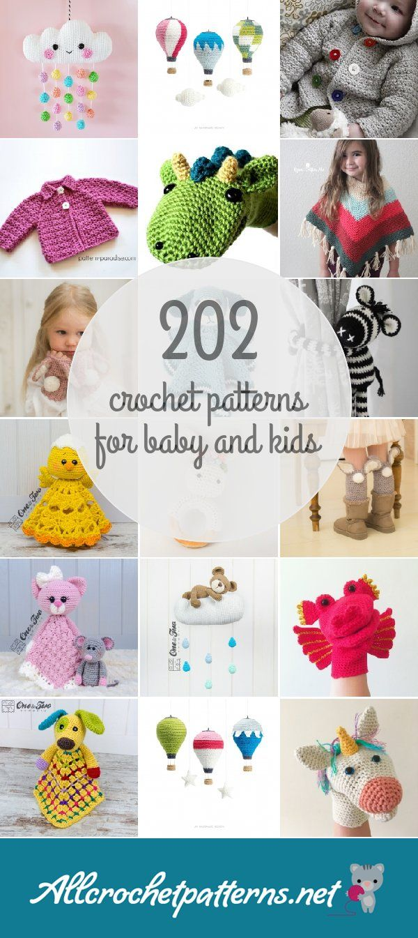Crochet Patterns For Baby And Kids | Tejer | Pinterest | Tejidos