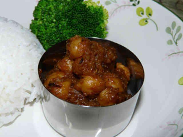 インド人奥さんに習ったヒヨコ豆カレー。