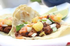 Mexican Tacos Al Pastor (also know as Tacos de Trompo). Absolutely fabulous! #MexicanFood
