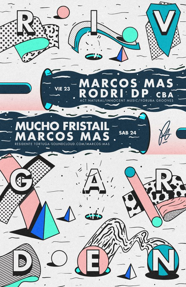 Flyers Riv Garden by Diego Flores Diapolo, via Behance
