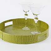 Drink Service :o)Coffee Tables, Everglades Round, Bar Trays, Servings Trays, Green Trays, Limes Green, Accent Colors, Round Trays, Everglades Trays
