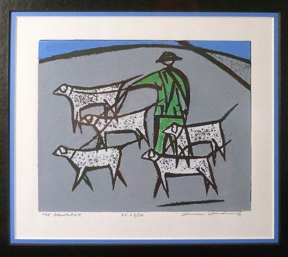 Linnea Lundmark Print The Dogwalker Seattle Artist By