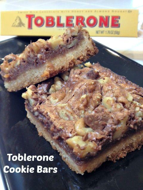 Toblerone Cookie Bars : wheelndealmama --- pp: Omg! My favorite chocolate now in a cookie.