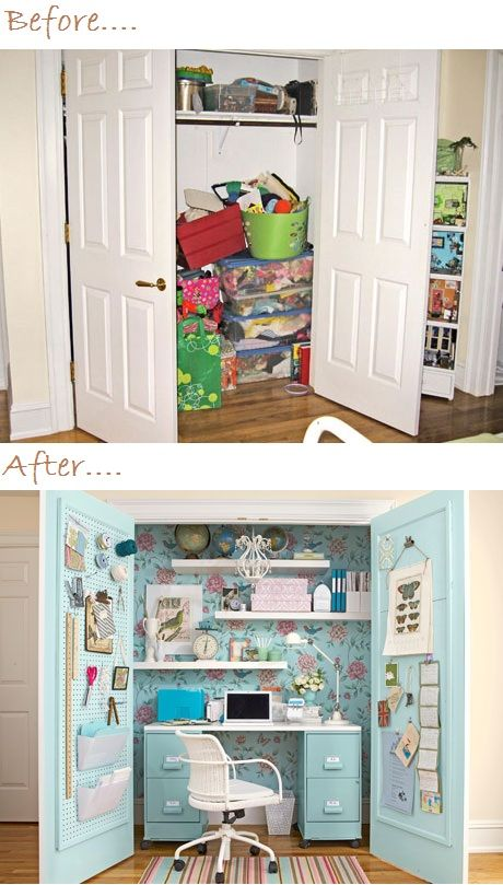 office in a closet ideas. Home Office In A Closet Idea Before And After Imagine Jewelry Bulletin Boards On Ideas
