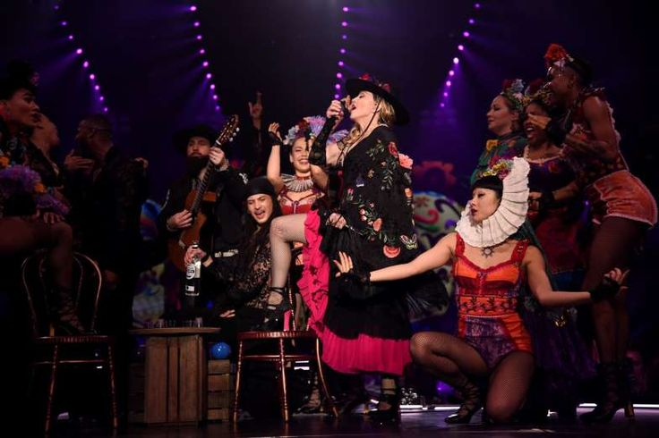 Week in Celebrity Photos: Oct. 26-30 -    Madonna takes a shot of Jose Cuervo Tradicional during the L.A. stop of her Rebel Heart tour at The ... - Jose Cuervo