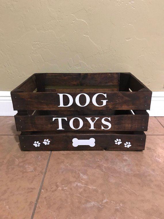 Dog Toy Box Large In 2020 Dog Toy Box Dog Room Decor Diy Dog Stuff