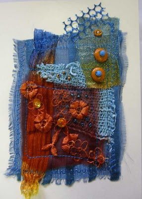 Ro Bruhn - one of my fabric cards