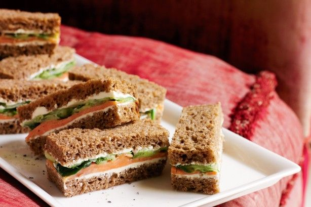 These bite size smoked trout sandwiches are the perfect finger food for any special occasion.