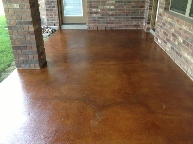 Brown Stained Concrete Patio   Google Search