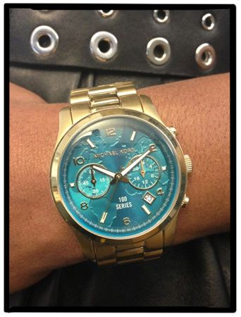 World Map Watch Michael Kors.View From The Fashion Closet Blue In The Face Style Stuff