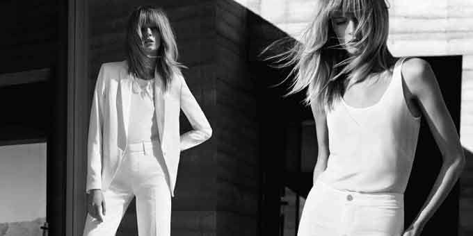 #moda La #pe2015 di J Brand si racconta in suggestivi scatti in bianco e nero realizzati in Arizona. La #modella? Daria Strokous.http://www.sfilate.it/239291/lo-stile-californiano-di-j-brand-si-racconta-bianco-e-nero