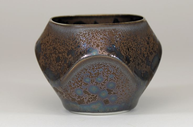 Peter Biddulph - Sake Cup Wave - Southern Ice Porcelain - Iridescent Crystalline Glaze