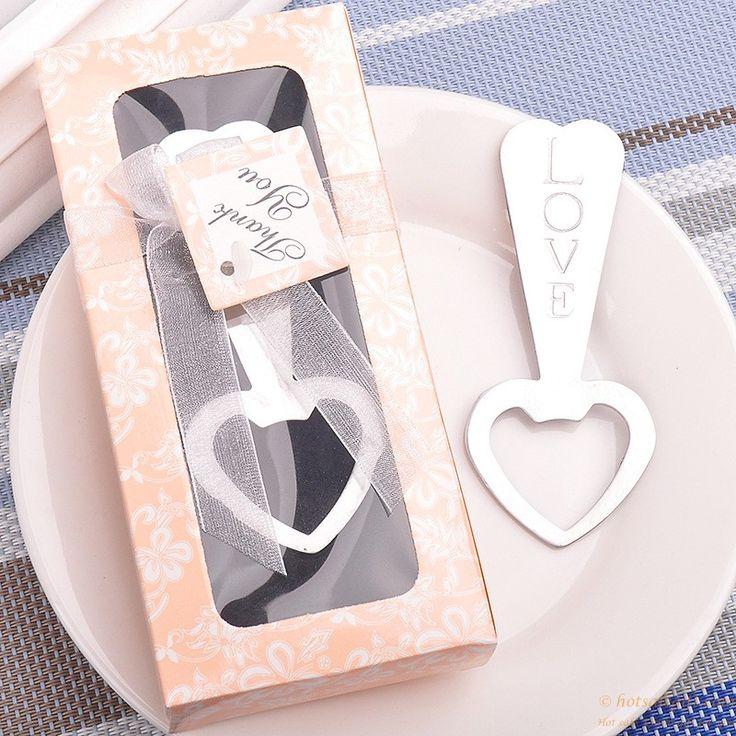 Metal Love Heart Shaped Bottle Opener Wedding Favors gift