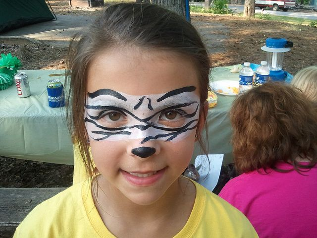 Simple Painted Zebra Face Paint