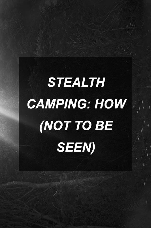 Stealth Camping: How (not to be seen) | Survival Shelf | Survival & Preparedness Links
