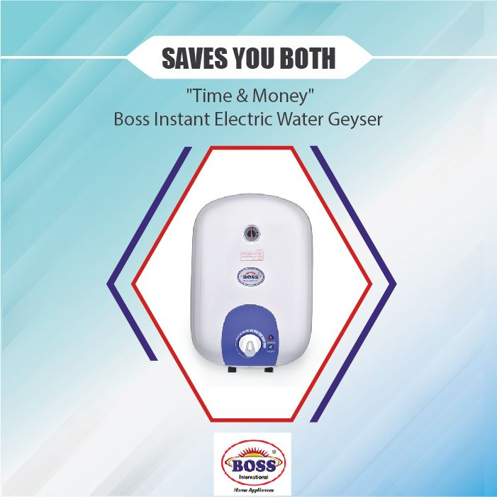 Boss Home Appliances Boss Instant Water Heater Long Hot Showers Instantly By Saving Explore More By C Water Heater Instant Water Heater Heat Safety
