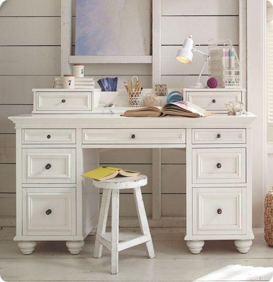 Desk Makeover For The Home Pinterest Desks White