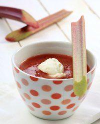 Rabarbra og jordbærsuppe