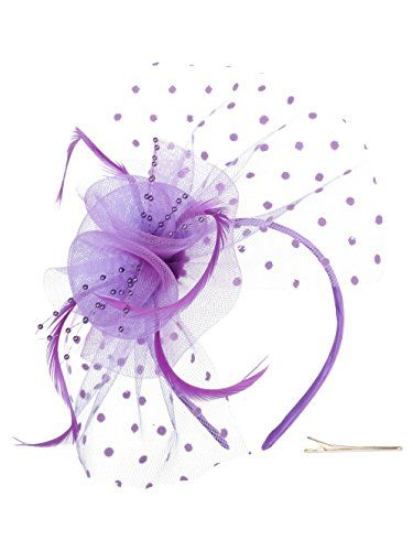 17593afc0b3 Zivyes Fascinators Hat for Women Tea Party Headband Kentucky Derby Wedding  Cocktail Flower Mesh Feathers Hair