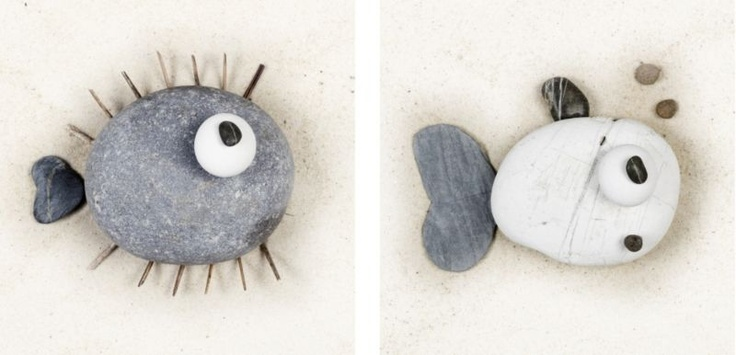 This printed pebble fish canvas has a quirky appeal and a natural charm that will sit well with the tones of most bathrooms. #canvas #wallart  http://bq.co.uk/RdOefW