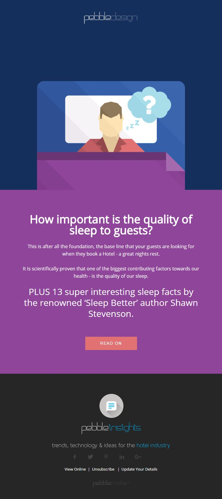 How important is the quality of sleep to guests? - Hospitality Insights #hospitalityinsights #hotelwebdesign #hotelwebsitedesign #pebbledesign #hotelwebsites