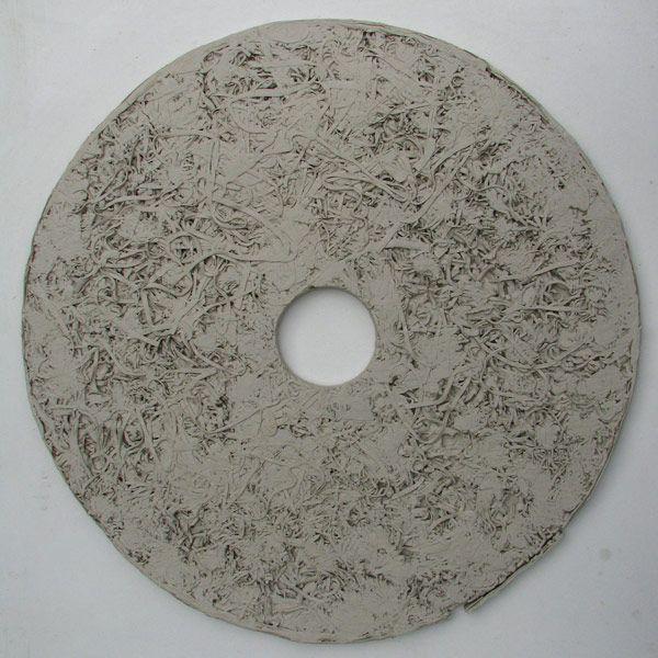 Anna Klimešová, Annual Rings, 2007, diameter 60 cm #clay #sculpture #ring #annualring