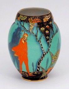 Carlton Ware vase Mephisotopheles