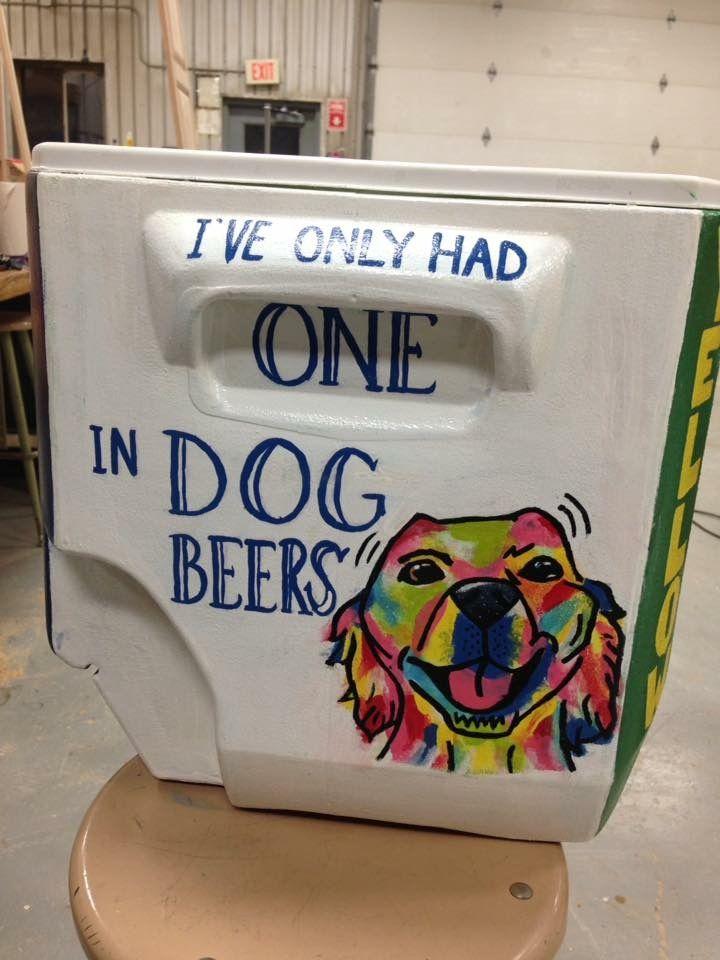 dog beer cooler