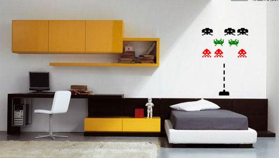 decals stickers Space Invaders pack by Tmaniashop on Etsy, €7.00