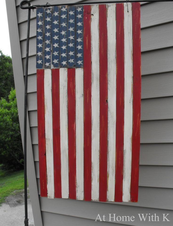 Americana Wood Flag: Wooden Flags, At Home, Crafts Ideas, American Flags, Americana Wood, 4Th Of July, July 4Th, Wood Flags, Pottery Barns Inspiration
