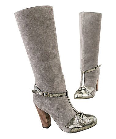Love this Charcoal Lakin Boot & Bracelet - Women on #zulily! #zulilyfinds