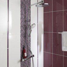 Faïence mur prune, Tonic l.25 x L.50 cm