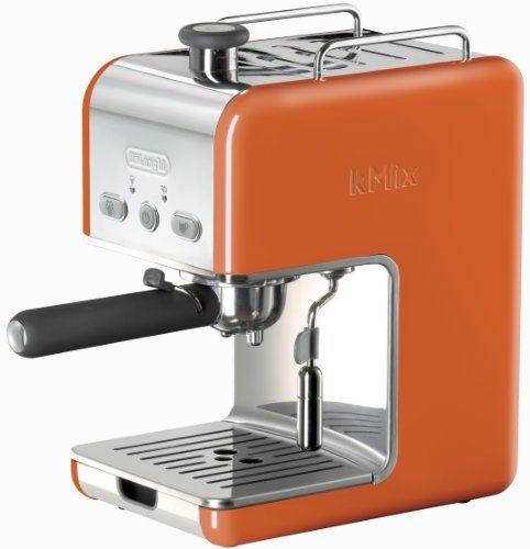 DeLonghi Kmix 15 Bars Pump Espresso Maker, Orange - http://www.teacoffeestore.com/delonghi-kmix-15-bars-pump-espresso-maker-orange/