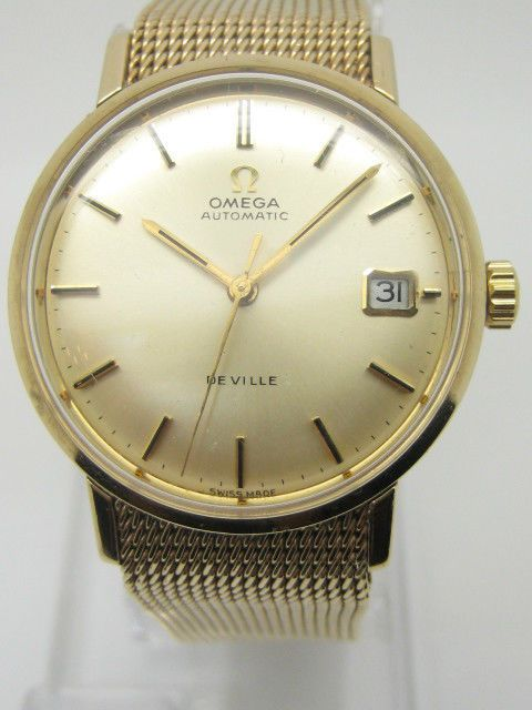 OMEGA Automatic De-Ville Solid Yellow Gold 9Carat Gent s Used Watch Omega Box