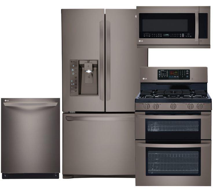Lg Kitchen Appliances: LG 481444 Black Stainless Steel Kitchen Appliances Package