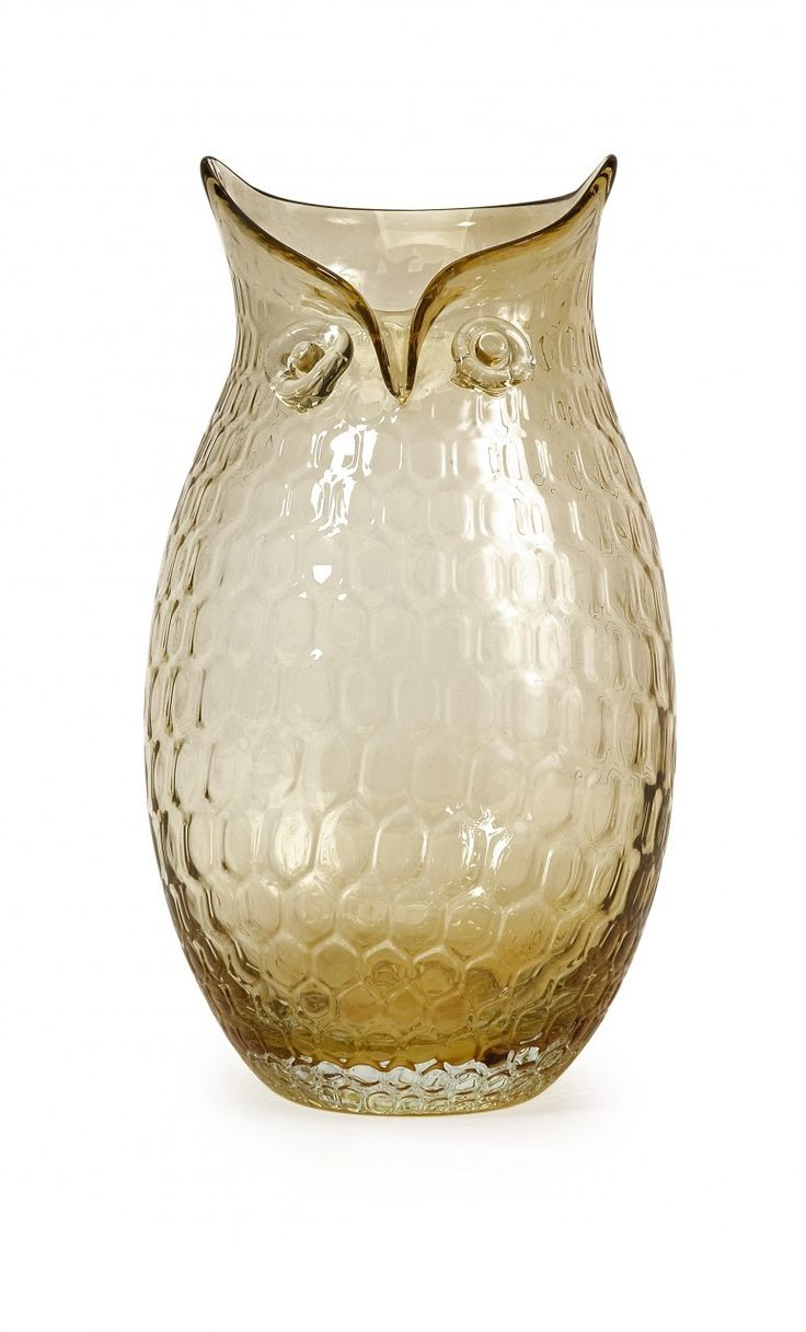 22 best owls images on pinterest owls owl and tawny owl home decor unique home decor amber large glass owl vase 8182 reviewsmspy