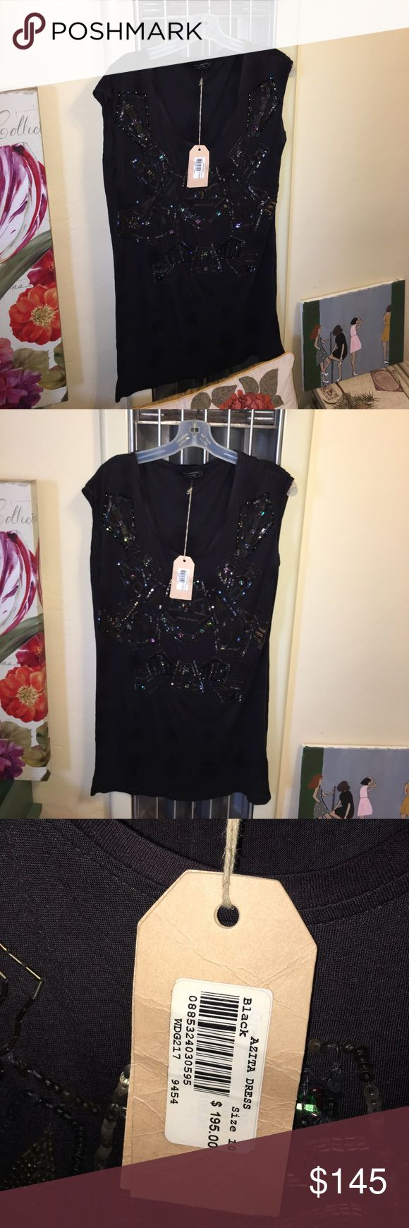 ALLSAINTS jeweled t-shirt dress Stunning and comfortable! Tags still attached! Impressive quality and brand. Dress up or down. May I say the perfect dress? 👌😱😍 ALLSAINTS Dresses Midi
